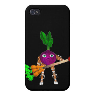 Valxart BeetBot plays a juicy carrot guitar Covers For iPhone 4