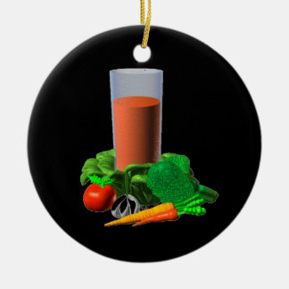 Valxart blank Vegetable Juice Template 100+ Double-Sided Ceramic Round Christmas Ornament