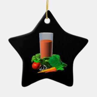 Valxart blank Vegetable Juice Template 100+ Double-Sided Star Ceramic Christmas Ornament