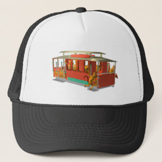 ValxArt cable car hat with wood creatures
