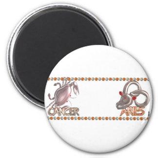 Valxart Cancer Aries zodiac friendship gift 2 Inch Round Magnet
