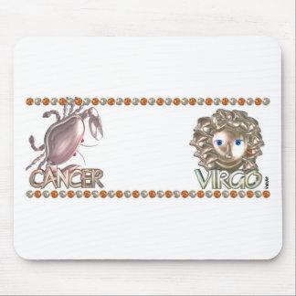 Valxart Cancer Virgo zodiac friendship gift Mouse Pad