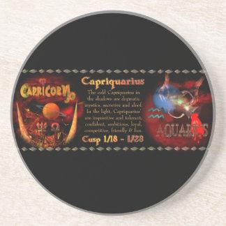 Valxart Capriquarius Capricorn Aquarius Cusp Drink Coaster