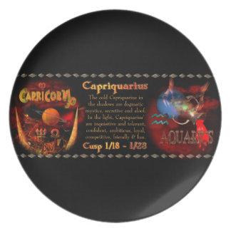 Valxart Capriquarius Capricorn Aquarius Cusp Party Plate
