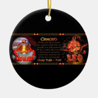 Valxart.com Cancer Leo zodiac Cusp is  Canceo Ceramic Ornament