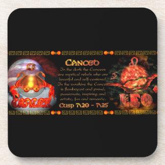 Valxart.com Cancer Leo zodiac Cusp is  Canceo Beverage Coasters