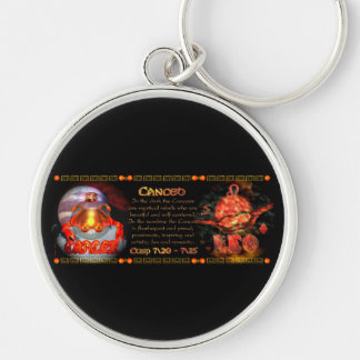 Valxart.com Cancer Leo zodiac Cusp is  Canceo Keychain