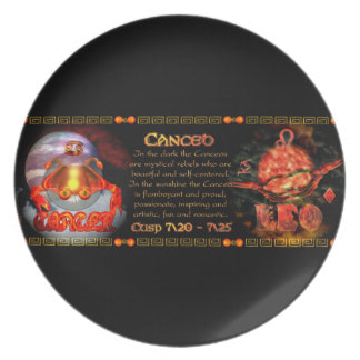 Valxart.com Cancer Leo zodiac Cusp is  Canceo Party Plate