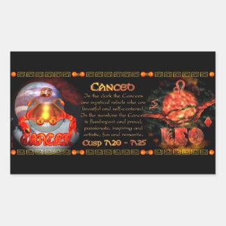 Valxart.com Cancer Leo zodiac Cusp is  Canceo Rectangular Sticker