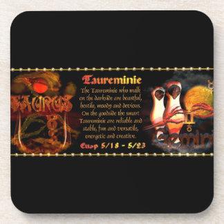 Valxart.com Gothic zodiac Taurus Gemini cusp Beverage Coasters