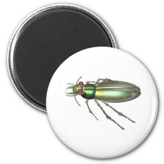 Valxart.com green Tiger Beetle gift design Magnet