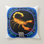 valxart.com Scorpio zodiac logo Throw Pillow