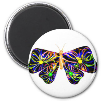 Valxart.com spiral butterfly gift 2 inch round magnet