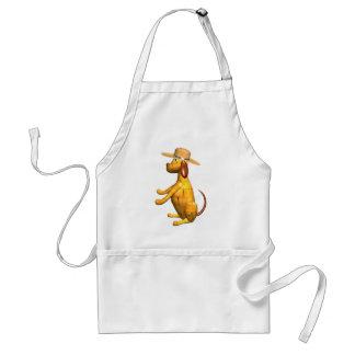 Valxart.com wooden dog gift design adult apron