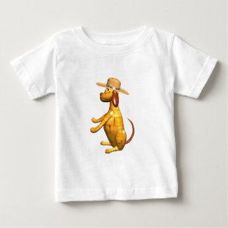 Valxart.com wooden dog gift design baby T-Shirt