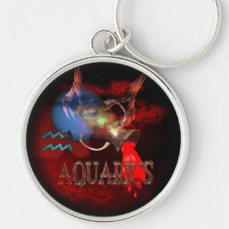 Valxart creepy zodiac born Aquarius Keychain