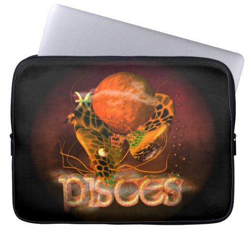 Valxart creepy zodiac born in Pisces Laptop Sleeves