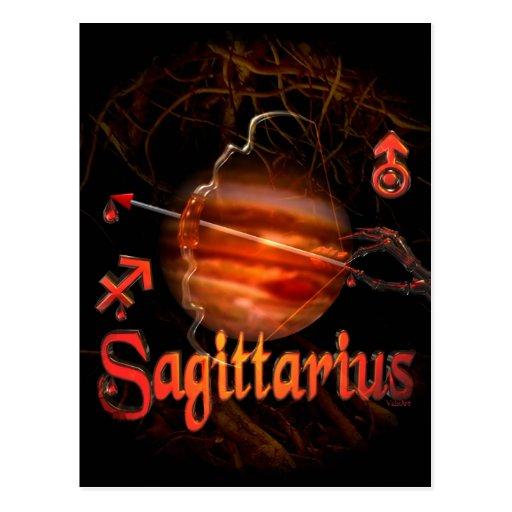 Valxart creepy zodiac born Sagittarius Postcard