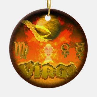 Valxart creepy zodiac Virgo Ceramic Ornament