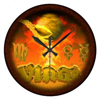 Valxart creepy zodiac Virgo Round Clocks