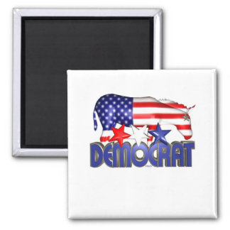 ValxArt Democratic USA flag donkey 2 Inch Square Magnet
