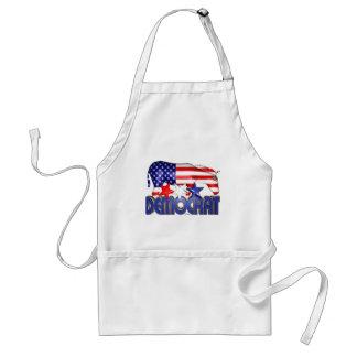 ValxArt Democratic USA flag donkey Adult Apron