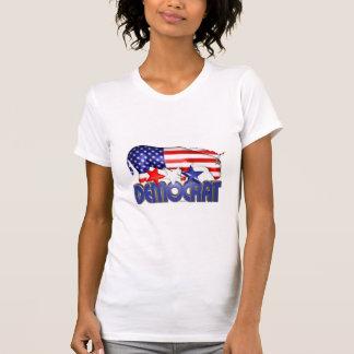 ValxArt Democratic USA flag donkey T-Shirt