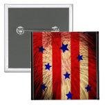 ValxArt fireworks flag abstract design Pinback Button