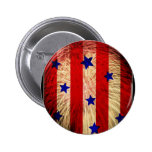 ValxArt fireworks flag abstract design Pinback Buttons