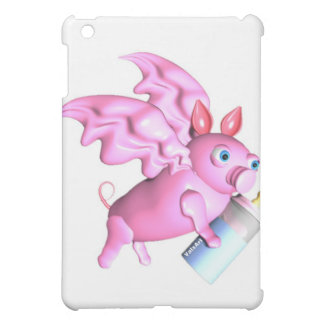ValxArt flying pink pig with baby bottle iPad Mini Covers