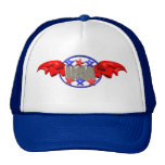 ValxArt flying USA with red Wings and stars Trucker Hats