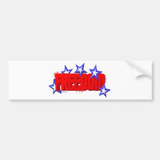 Valxart freedom shines with stars logo bumper sticker