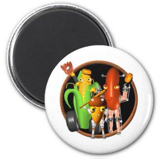 Valxart FUDEBOT baseball robots 2 Inch Round Magnet