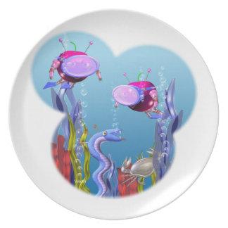 Valxart FUDEBOT healthy eating Plates