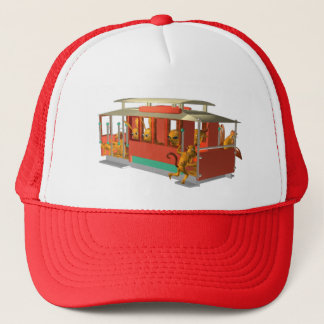 ValxArt funny cable car full of wood creatures Trucker Hat
