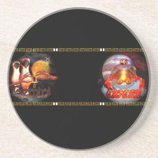Valxart Gemincer is Gemini Cancer zodiac Cusp Beverage Coasters