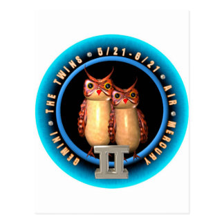 Valxart Gemini zodiac logo Postcard
