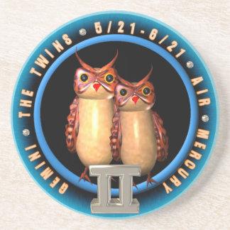 Valxart Gemini zodiac round coaster