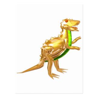 Valxart golden Trex dinosaur gifts Postcard