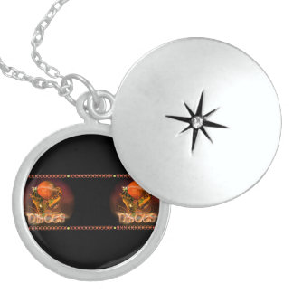 Valxart Gothic Pisces zodiac astrology Round Locket Necklace