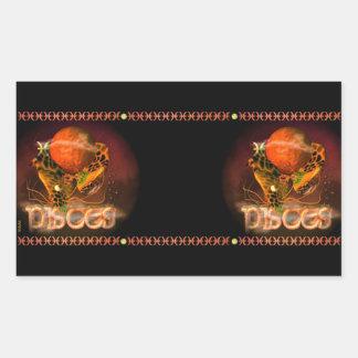 Valxart Gothic Pisces zodiac astrology Rectangle Stickers