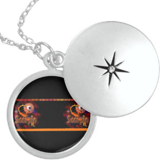 Valxart gothic Scorpio zodiac astrology Round Locket Necklace