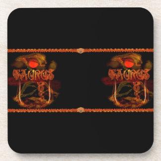 Valxart Gothic Taurus zodiac astrology Coaster