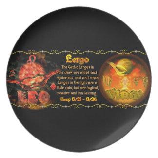 Valxart Gothic zodiac born Leo Virgo Cusp Dinner Plate