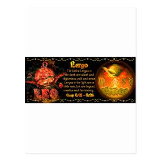 Valxart Gothic zodiac born Leo Virgo Cusp Postcard