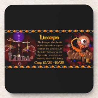 Valxart Gothic zodiac Libra Scorpio cusp Drink Coasters
