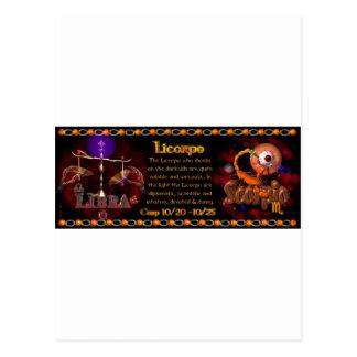 Valxart Gothic zodiac Libra Scorpio cusp Postcard