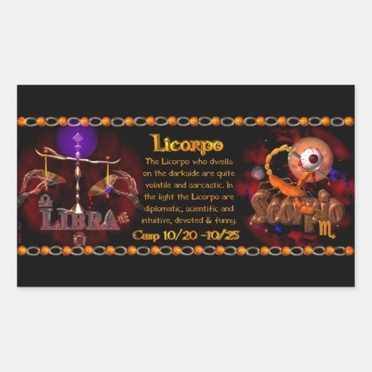 Valxart Gothic zodiac Libra Scorpio cusp Rectangular Sticker