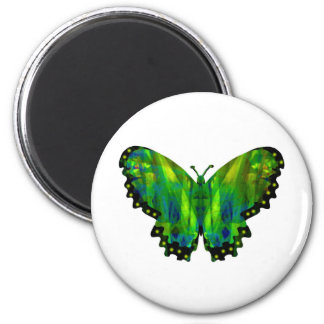 Valxart green abstract butterfly magnet