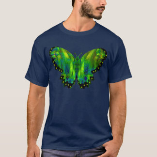 Valxart green abstract butterfly T-Shirt